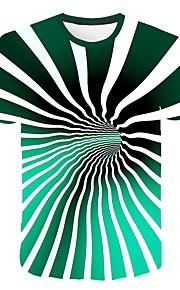 Hombre Talla EU / US Camiseta, Escote Redondo Delgado Geométrico Arco Iris XXL
