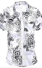 Skjorte Herre - Blomstret Blå XXXXL