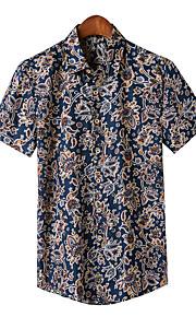 Skjorte Herre - Blomstret Rosa XL