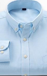 Skjorte Herre - Ensfarget Grå XXXL