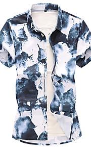 Skjorte Herre - Geometrisk Hvit XXXXL