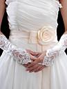elastic satin cot broderie cu mănuși Baghete de nunta