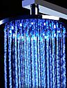 20 inch inoxidabil cap de duș din oțel, cu lumina de culoare schimbare a condus