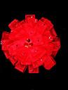 satin roșu cu pietre de mireasa caciula de mireasa