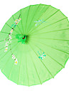 """Mătase Ventilatoare și umbrele de soare Piece / Set Umbrele de soare Temă Grădină Temă Asiatică Verde19""""înălțime x 32 1/3"""" în"""