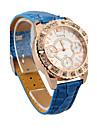 diamant decor husă din piele trupa cuarț ceas de mână analog femei (culori asortate)