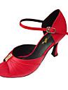 Femme Salsa Salon Satin Sandale Strass Boucle Talon Aiguille Or Noir Rouge Couleur chair Non Personnalisables