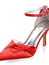 satin cu toc inalt superior închis degetele de la picioare speciale de pantofi ocazie mai multe culori disponibile