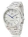 Bărbați Ceas Elegant ceas mecanic Mecanism automat Calendar Oțel inoxidabil Bandă Luxos Argint