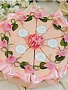 Piramidă Hârtie cărți de masă Favor Holder Cu Flori Panglici Cutii de Savoare