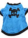 Câine Costume Tricou Ținute Îmbrăcăminte Câini Respirabil Cosplay Halloween Cranii Animal Albastru Costume Pentru animale de companie