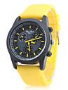 Bărbați Ceas Sport Japoneză Quartz Cauciuc Bandă Yellow