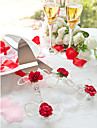 oțel inoxidabil floral temă cadou caseta de servire seturi de nunta de primire