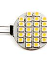 g4 lumina reflectoarelor led 24 smd 3528 50lm cald alb 2700k dc 12v