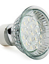 1.5W 60-80 lm GU10 LED-spotlights MR16 18 lysdioder Högeffekts-LED Varmvit AC 220-240V