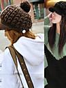 doamnă pălării lână de iarnă tricot capace (circumferinta 56-58cm)