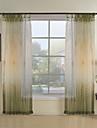Imprime & Jacquard Crochets (Uniquement pour la construction superieure, rideaux plisses) Chambre a coucher Transparent 100 % Polyester