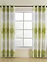 Două Panouri Tratamentul fereastră Frunză 65% Celofibră /35%Poliester Raion Material Pagina de decorare For Fereastră