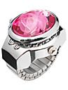 fermecător din aliaj de floare de design ceas inel reglabil (mai multe culori)
