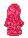 Chien Manteaux Pulls à capuche Vêtements pour Chien Couleur Pleine Rouge Rose Coton Costume Pour les animaux domestiques Homme Femme