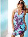 ștreangul rochie print floral (bust :86-102waist :58-79hips :90-104length: 72cm)