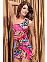print floral o rochie umăr (bust :86-102waist :58-79hips :90-104length: 68cm)