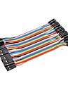 Dupont-kabel kvinnlig till kvinnlig kabelledning 40p-40p Testlinjekontakt (10cm)