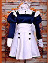 Inspirerad av Svart Butler Mey-Rin Animé Cosplay-kostymer cosplay Suits Klänningar Lappverk Långärmad Klänning Pannband Till Kvinna