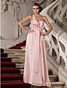 Teacă / coloană un umăr dragă podea lungime șifon rochie de bal cu draperii de ts couture®