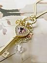 Pentru femei Crown Shape Inimă Iubire Elegant Coliere cu Pandativ Cristal Cristal Aliaj Coliere cu Pandativ . Petrecere Zilnic