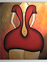 handmålade abstrakta oljemålningar med sträckt ram