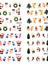 4st julklapp 3D Dekorationer Nail Sticker