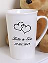 Mireasă / Cuplu Cadouri Piece / Set Pahare Strălucire / Clasic Nuntă / Aniversare / Zi de Naștere Ceramică Personalizat Pahare Sac PVC