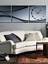 Ceas de perete moderne pitoresc în pânză 3pcs k0008