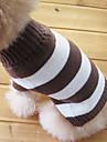 Pisici Câine Pulovere Îmbrăcăminte Câini Keep Warm Modă Dungi Costume Pentru animale de companie