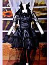 Gotisk Lolita Punk Spets Satin Dam Klänningar Cosplay Kortärmad Medium längd