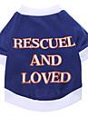 Câine Tricou Îmbrăcăminte Câini Literă & Număr Bumbac Costume Pentru animale de companie Bărbați Pentru femei Casul/Zilnic