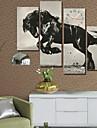 modern stil hästvägg klocka i duk uppsättning av 4 vägg klocka icke-expedited