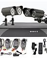 4 Nuit CCTV Outdoor Day Home Video Surveillance Camera kit de sécurité