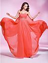 Teacă / coloană păpușă dragoste podea lungime georgette rochie de balet cu beading de ts couture®