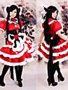 Inspirado por Touhou Project Reimu Hakurei Video Juego Disfraces de cosplay Trajes Cosplay / Vestidos Retazos Manga Corta Vestido Tocados Collare Disfraces / Satin