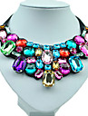 Dame Coliere Reșină Ștras Diamante Artificiale Aliaj Confecționat Manual costum de bijuterii La modă Plin de Culoare Bijuterii Pentru