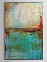 HANDMÅLAD Abstrakt Vertikal,Traditionellt En panel Hang målad oljemålning For Hem-dekoration