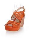 imitație de piele pană sandale toc cu partid / seara pantofi gol-out (mai multe culori)