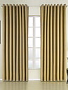 Rideaux Tentures Chambre a coucher Couleur Pleine 100 % Polyester Polyester Relief