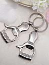 Aliaj Zinc Favoruri Keychain-4 Piece / Set Brelocuri Temă Clasică Personalizat Argintiu