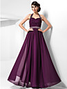 Sheath / Column Halter Floor Length Chiffon Prom / Formal Evening Dress with Beading Criss Cross by TS Couture®