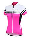 SANTIC Жен. С короткими рукавами Велокофты - Синий Розовый Велоспорт Джерси, Быстровысыхающий, Анатомический дизайн, Ультрафиолетовая