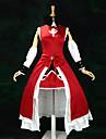 Esinlenen Puella Magi Madoka Magica Kyoko Sakura Anime Cosplay Kostümleri Cosplay Takımları / Elbiseler Kırk Yama Kolsuz Elbise / Kollar / Saç Bandı Uyumluluk Kadın\'s / Saten