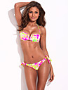 Belle a Beach - RELLECIGA completa de copaci High Contrast floral Blooming Bikini Model Set cu usoara Push-up turnate spumă